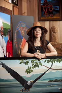 Contemporary Coast Salish First Nation's Artist, Darlene Gait